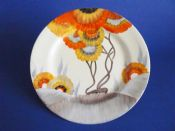 Lovely Clarice Cliff 'Rhodanthe' Side Plate c1936 #1 (Sold)
